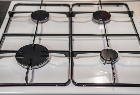 Clean and new cooking stove surface close-up