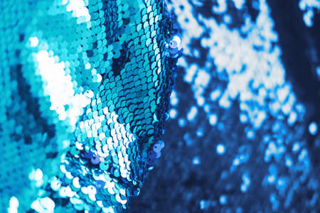 Abstract of blue shiny sparkling sequence Reklamní fotografie
