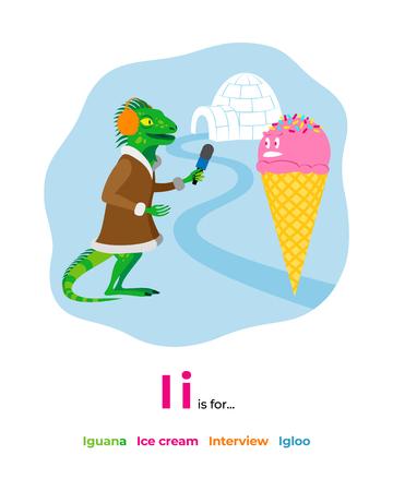 Illustration of letter I for alphabet Illustration