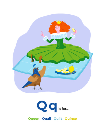 illustration of letter Q for English alphabet 写真素材