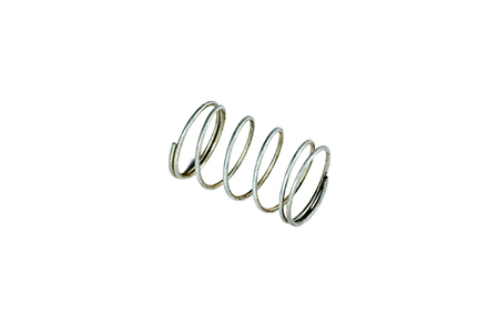 elasticity: compresión y extensión de acero para muelles chapado con cromo. diseño elemento flexible. Foto de archivo