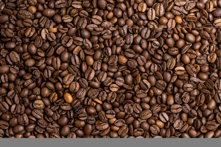 sober: Roasted coffee beans evenly, a lot of coffee beans brown Stock Photo