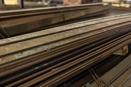 Strip of steel in the warehouse. For wholesale, retail sale or for the manufacture of parts at the factory. Beam.