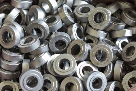 Round metal parts. Steel rollers, rollers.