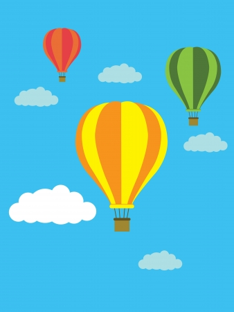 air sport: balloon blackground vector