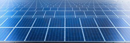 solarpower: Solar cell panels in a photovoltaic power plant