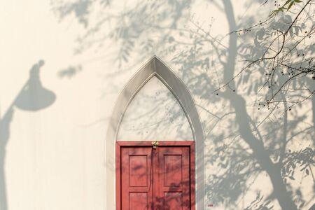 hasp: padlock and old door hasp and door on an vintage