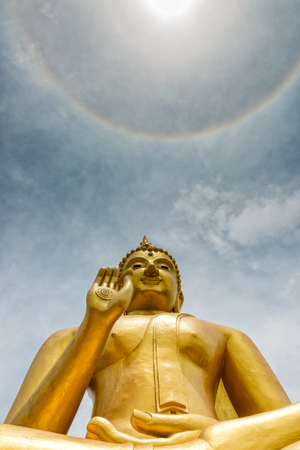 The buddha at the top of ring around the sun