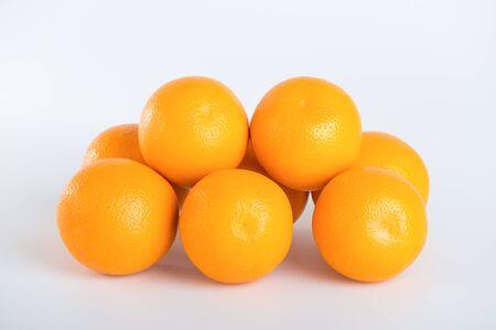 Fresh orange on white background Stock Photo