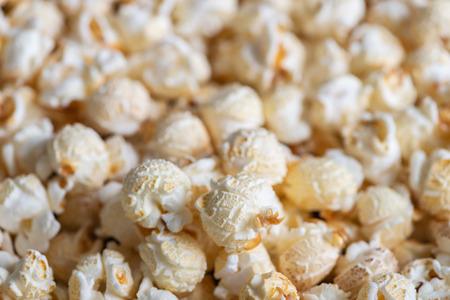 Closeup Mushroom popcorn varieties on a lot of background.