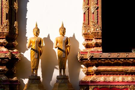 Buddha church in evening light.