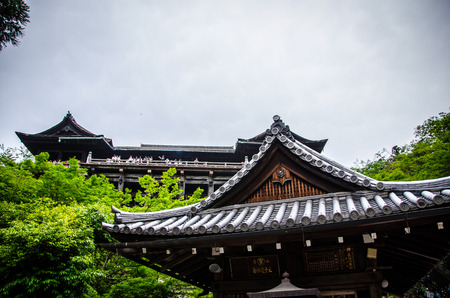 dera: Kiyomizu Dera buddhist temple in Kyoto, Japan, The temple is part of the Historic Monuments of Ancient Kyoto