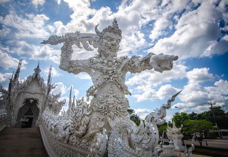 veneration: Wat Rong Khun White temple , Chiang Rai, Thailand