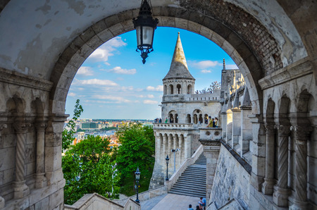 Fisherman Bastion in Buda, Budapest, Hungary