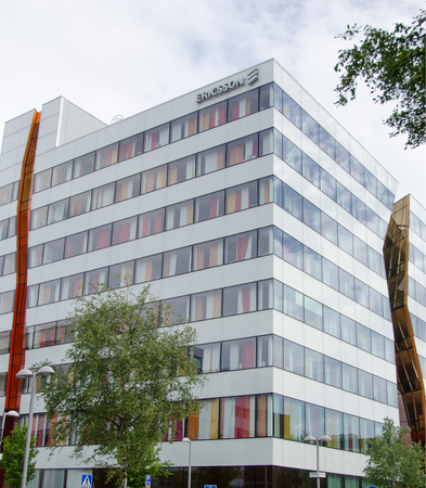 ericsson: Ericsson office building in Kista, a suburb in northern Stockholm.