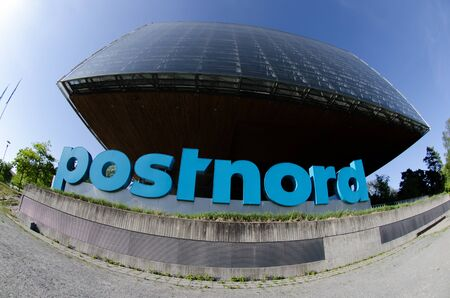 Solna, Sweden - 19 may 2018. The headqurters of the postal service company Postnord called