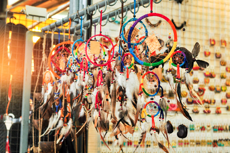 catching: Colorful Dream Catcher, A Sign For Catching Bad Dream Stock Photo