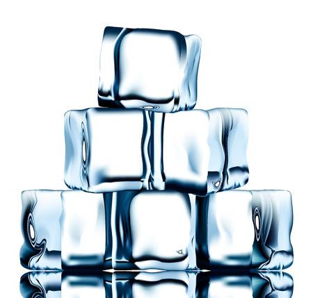 透明のアイス キューブ