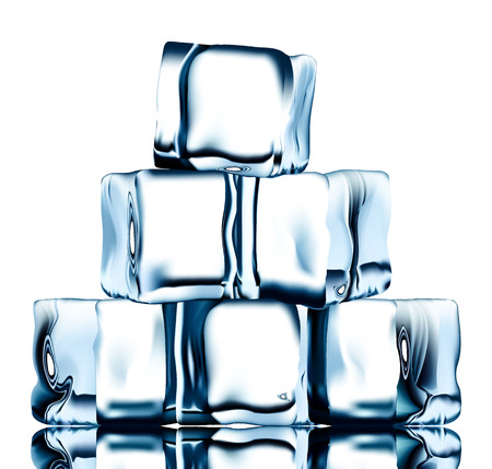 refrigerate: Clear transparent ice cubes