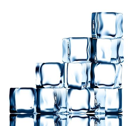 refrigerate: Abierto cubos de hielo transparente vector