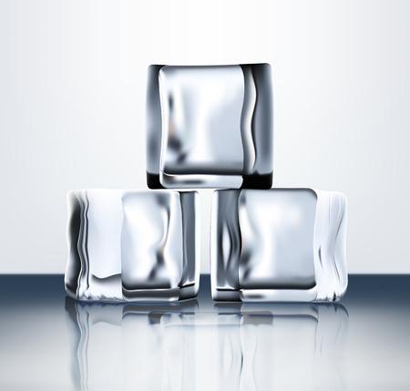 refrigerate: Abierto cubos de hielo transparentes