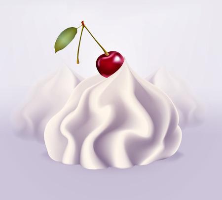 Whipped cream, vector illustration