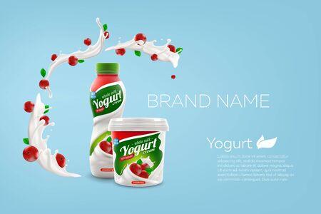 vector mock-up illustration for ads and product design Vetores