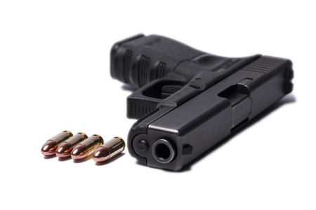 glock: pistol and bullet Stock Photo