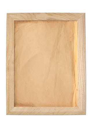 paper texture: Old paper texture background in wooden frame