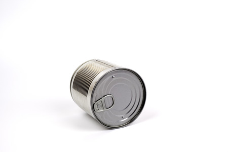 tin can: Closed tin can isolated on white background.