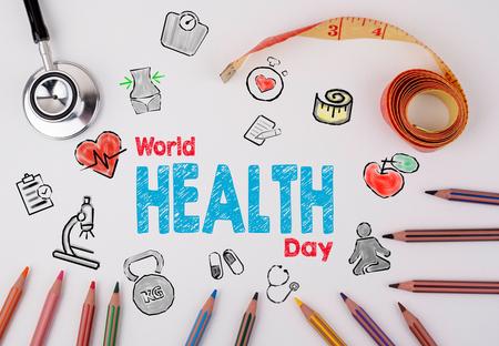 World health day concept. Healty lifestyle background. 版權商用圖片
