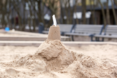 sand castle, childrens playground in the park. Stock Photo