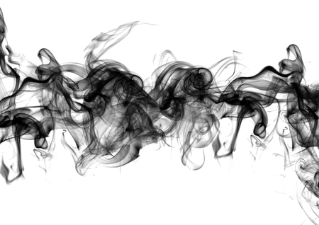 Smoke on white. Abstract, advertising and marketing background.