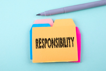 Responsibility, Business Concept. Paper note with text