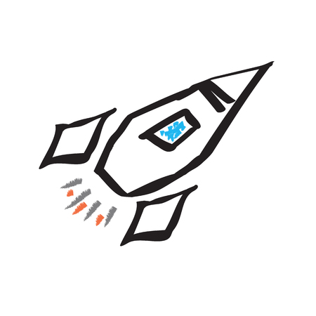 Rocket . vector icon. for marketing and business background Stock Vector - 126254121