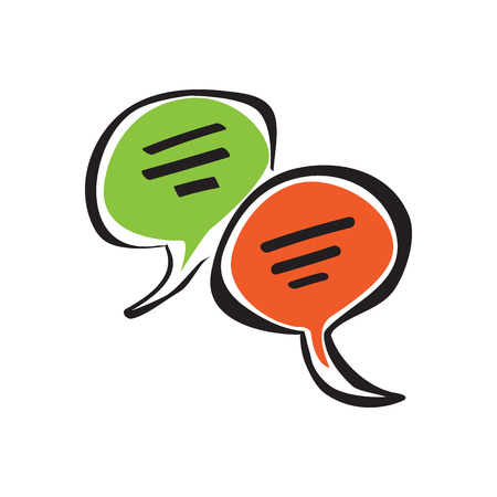 Speech bubbles Icon. communication and social media concept