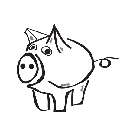 Piggy bank icon vector illustration. Family, finance and insurance concept