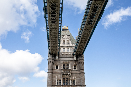 Tower bridge in London, Great Britain. Blue sky and white clouds Reklamní fotografie