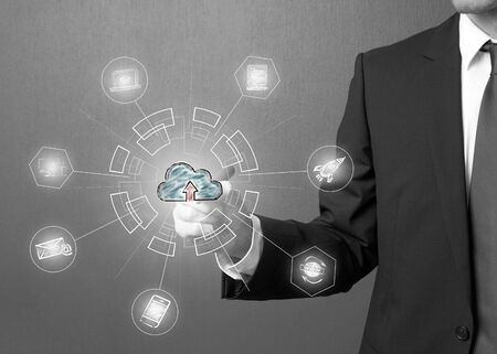 Cloud Computing Technology Internet Storage Network Concept Stock Photo