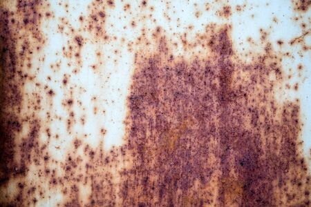 Corroded metal rusty wall plate background with copy space Stock Photo