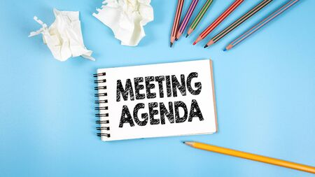 Meeting Agenda. Business, meeting and training concept Reklamní fotografie