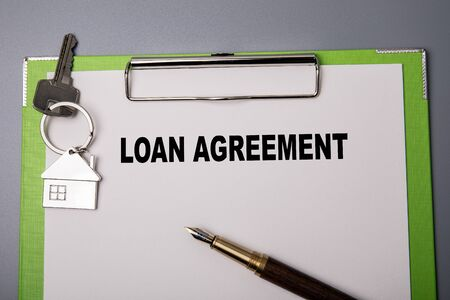 Loan agreement. Business, legal document concept
