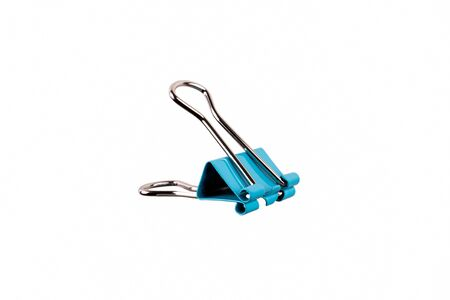 Office Binder clip isolated on white background Фото со стока