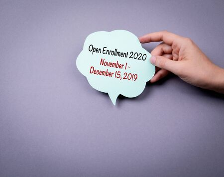 The 2020 Open Enrollment Period from November 1 to, December 15, 2019 스톡 콘텐츠
