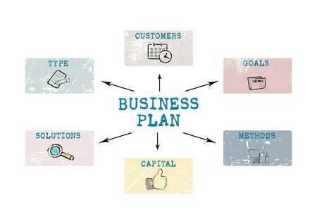 Business plan. Profit, development, set goals and career concept Stok Fotoğraf