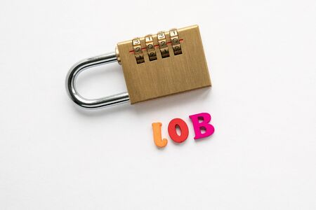 Job. Careers, education, opportunities and benefits. Padlock with numbers 2020 Stok Fotoğraf