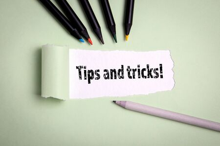 Tips and tricks. Training, courses and conference concept Stockfoto