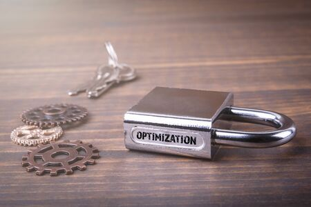 Optimization. Improve, resources, website and application concept