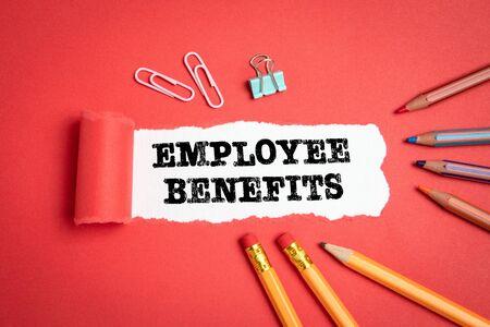 Beneficios para empleados. Concepto de remuneración, carrera y seguros Foto de archivo