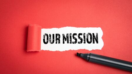 Our Mission. Goals, Ethics, Planning and Management concept